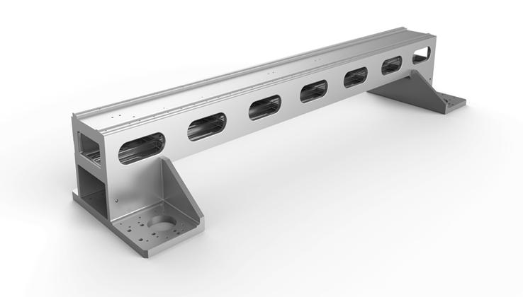 Cast aluminum gantry