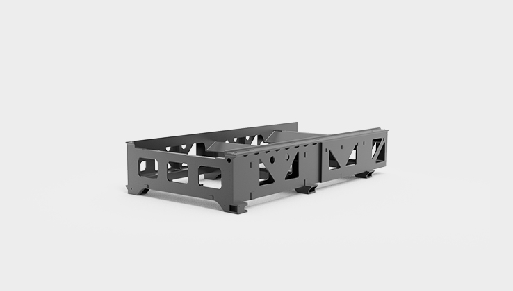 The cast iron bed of the fiber laser cutting machine